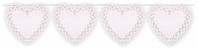 Corazón Calado Blanco PVC