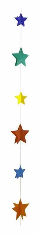 Hanging lineal con estrella multicolor