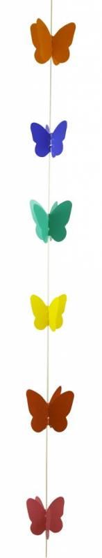 Hanging lineal con mariposa multicolor