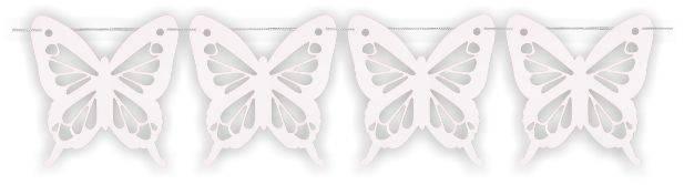Mariposa Gigante Blanca PVC