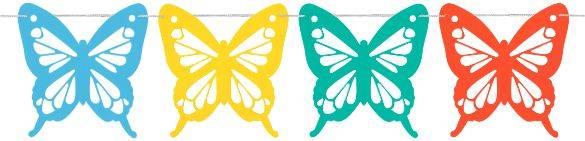 Mariposa Gigante Multicolor PVC