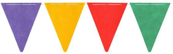 Banderín Multicolor
