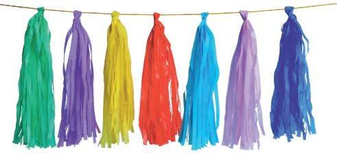Guirnalda de Borlas Multicolor