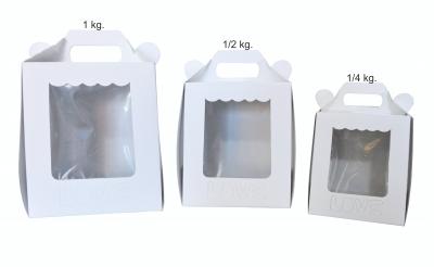 Caja Pan Dulce 1/4 Aprox. 11x11x12.5 cm LOVE