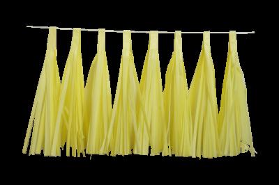 Guirnalda de Borlas Monocolor Pastel
