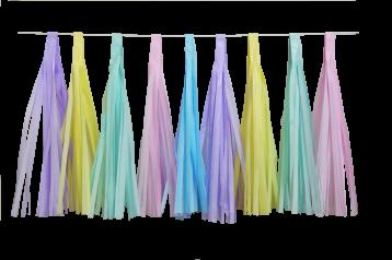 Guirnalda de Borlas Multicolor Pastel