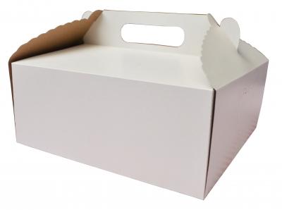 Caja Rectangular para Torta/Masas Economy 30x20x10